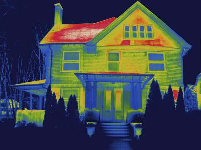Thermal Image of a Residence in New Haven-Tyrone Turner-Photographic Print