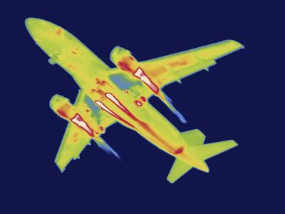 Thermal Image of an Airplane Landing at Reagan W. National Airport-Tyrone Turner-Photographic Print