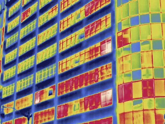 Thermal Image of Buildings in Washington D.C-Tyrone Turner-Photographic Print
