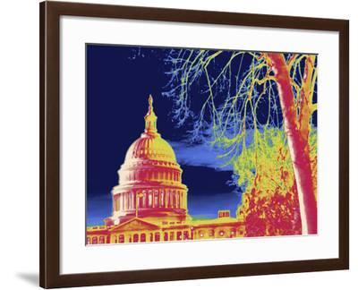 Thermal Image of the United States Capitol-Tyrone Turner-Framed Photographic Print
