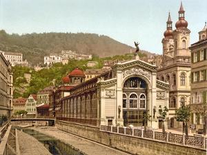 Thermal Spring Colonnade, Karlovy Vary, Pub. 1890-1900