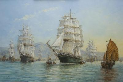 Thermopylae and Cutty Sark Leaving Foochow in 1872, 2008-John Sutton-Giclee Print