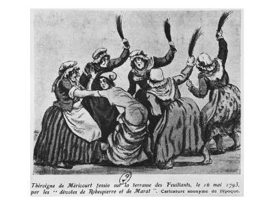 Theroigne De Mericourt Whipped by a Group of Parisian Jacobin Women, 16th May 1793--Giclee Print