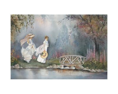 These Ladies with Hats-Armande Langelier-Art Print