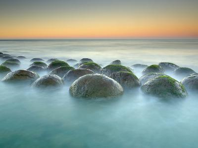 These Sandstone Concretions at Bowling Ball Beach Near Point Arena-Patrick Smith-Photographic Print