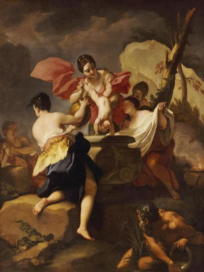 Thetis Dipping the Infant Achilles Into Water from the Styx-Antonio Balestra-Giclee Print