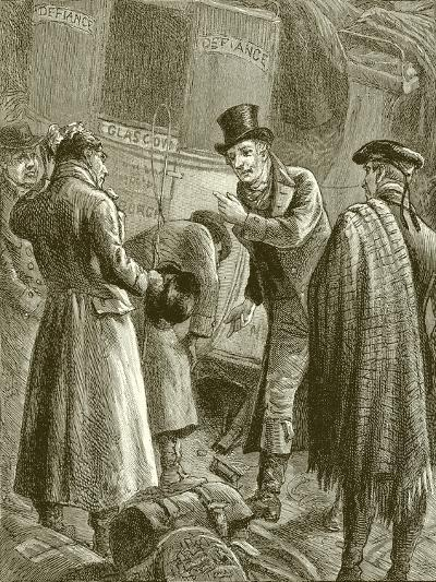 """""""They Began to Examine the Damaged Axle""""--Giclee Print"""