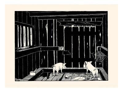 They Could Neither Burrow Out Nor Run Up the Wall-Luxor Price-Art Print