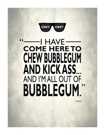 They Live Chew Bubble Gum-Mark Rogan-Giclee Print