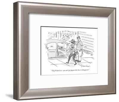 """""""They'll thank me?you can't get pigeons like these in Amagansett."""" - New Yorker Cartoon-Danny Shanahan-Framed Premium Giclee Print"""
