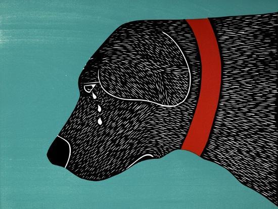 They Sense When You Go Away Black-Stephen Huneck-Giclee Print