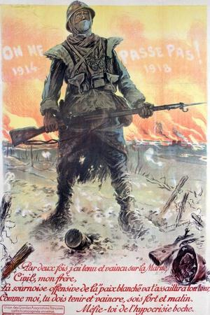 They Shall Not Pass! 1914-1918, 1918-Maurice Neumont-Giclee Print