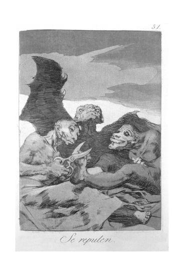 They Spruce Themselves Up, Plate 51 of 'Los Caprichos', 1799-Francisco de Goya-Giclee Print