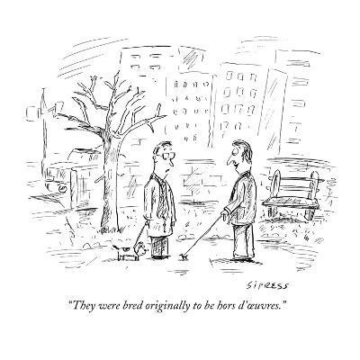 """They were bred originally to be hors d'?uvres."" - New Yorker Cartoon-David Sipress-Premium Giclee Print"