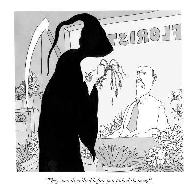 """They weren't wilted before you picked them up!"" - New Yorker Cartoon-Gahan Wilson-Premium Giclee Print"