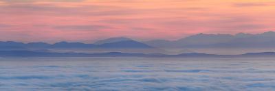 Thick Fog over Strait of Juan De Fuca During Sunrise from Hurricane Ridge-Raul Touzon-Photographic Print