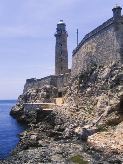 Thick Stone Walls, El Morro Fortress, La Havana, Cuba-Greg Johnston-Photographic Print