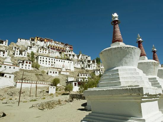 Thiksey Monastery, Thiksey, Ladakh, India-Anthony Asael-Photographic Print