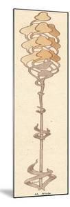 Thin Art Nouveau Flower