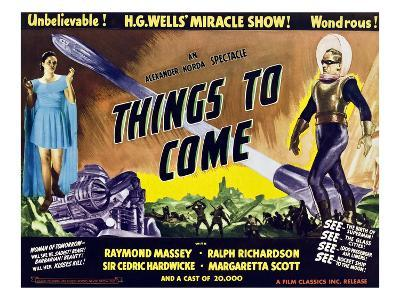 Things to Come, From Left: Margaretta Scott, Raymond Massey, 1936--Photo