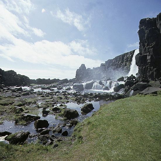 Thingvellir, 'Parliament Plains', where the national assembly, the Althing, met, Iceland-Werner Forman-Photographic Print
