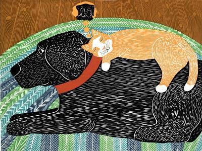Think A Happy Thought Black-Stephen Huneck-Giclee Print