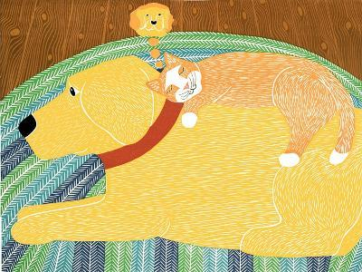 Think A Happy Thought Yellow-Stephen Huneck-Giclee Print
