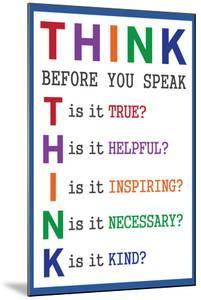 Think Before You Speak Education
