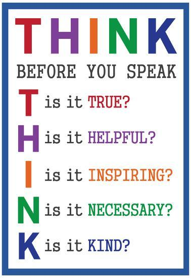 Think Before You Speak--Poster