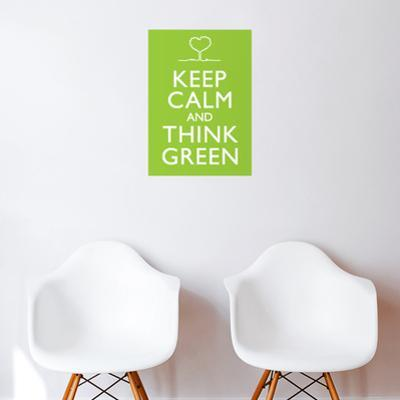 Think Green Wall Decal