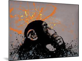 Thinker Monkey-Banksy-Mounted Giclee Print