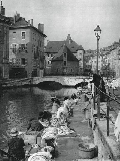 Thiou Canal, Annecy, France, 1937-Martin Hurlimann-Giclee Print