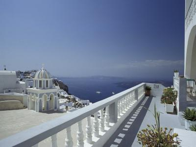 Thira and the Caldera, Santorini, Cyclades Islands, Greece-Michele Molinari-Photographic Print