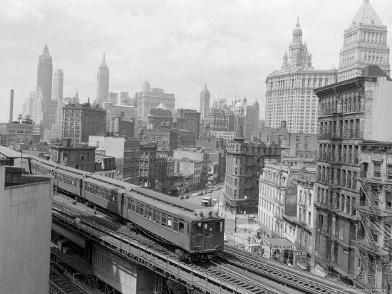 Third Avenue EL, New York, New York-John Lindsay-Photographic Print