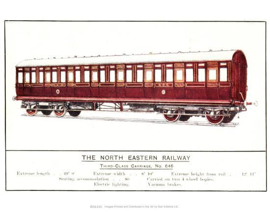 Third Class Carriage, No. 646, North Eastern Railway--Art Print