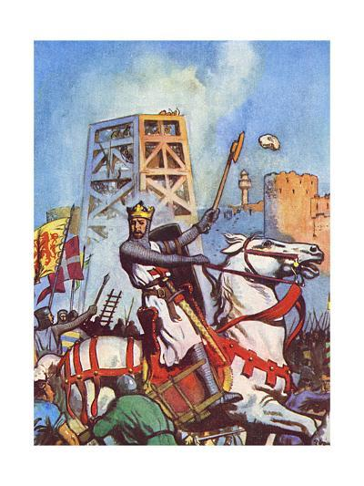 Third Crusade - Richard I at the Siege of Acre--Giclee Print