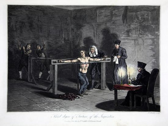 Third Degree of Torture of Inquisition, engraved by L.C. Stadler--Giclee Print