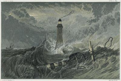 Third Eddystone Lighthouse, 19th Century-J^ M^ W^ Turner-Giclee Print