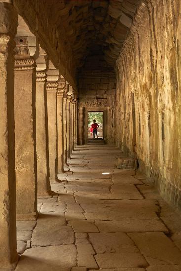 Third Enclosure Gallery, Angkor World Heritage Site-David Wall-Photographic Print