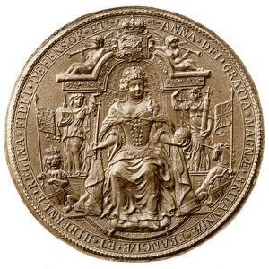Third Great Seal of Queen Anne, Obverse, 1702-1714