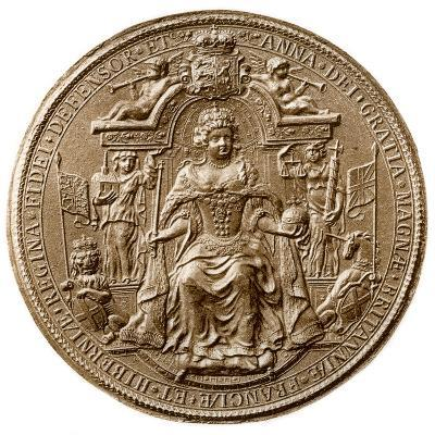 Third Great Seal of Queen Anne, Obverse, 1702-1714--Photographic Print
