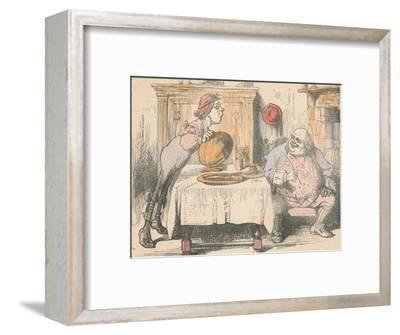 'Third of the Father William series', 1889-John Tenniel-Framed Giclee Print