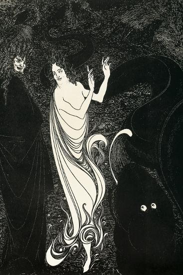 Third Tableau Illustration for Das Rheingold, Published in the Savoy, 1896-Aubrey Beardsley-Giclee Print
