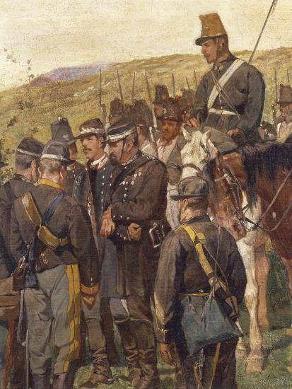 Third War of Independence - Prince Amedeo of Savoy Wounded at the Battle of Custoza--Giclee Print