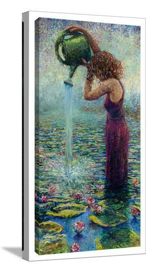 Thirsty Water Lillies-Iris Scott-Gallery Wrapped Canvas