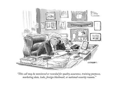"""This call may be monitored or recorded for quality assurance, training pu? - Cartoon-Pat Byrnes-Premium Giclee Print"