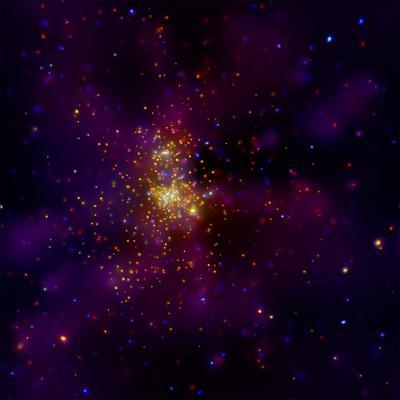 This Chandra X-ray Observatory Image Shows Westerlund 2, a Young Star Cluster--Photographic Print