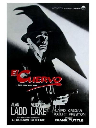 This Gun For Hire, Spanish Movie Poster, 1942--Art Print