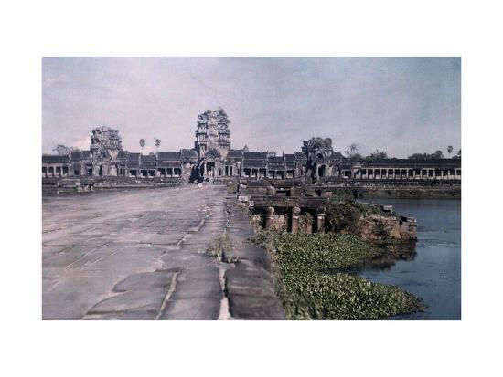 This Image Shows the Ancient Capital of Cambodia, Angkor-Gervais Courtellemont-Photographic Print