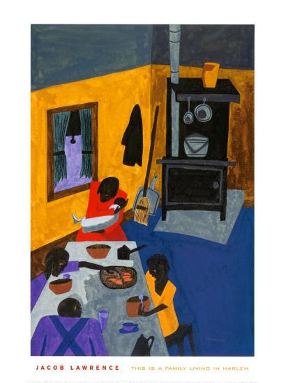 This Is a Family Living in Harlem, 1943-Jacob Lawrence-Art Print